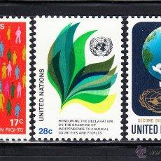 Sellos: NACIONES UNIDAS NEW YORK 359/61** - AÑO 1982 - SIMBOLOS. Lote 54312120