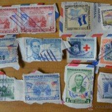 Sellos: LOTE 12 SELLOS DE HONDURAS AÑOS 50. Lote 54317333