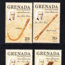 Sellos: GRANADA 1261/64** - AÑO 1985 - MUSICA - 3º CENTENARIO DEL NACIMIENTO DE J. S. BACH. Lote 54404044