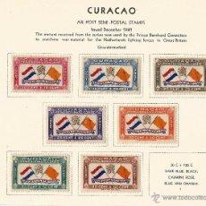 Sellos: CURASAO 1941 CORREO AEREO BANDERAS. Lote 54417162