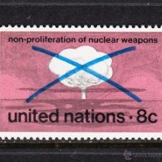 Sellos: NACIONES UNIDAS NEW YORK 220** - AÑO 1972 - CONTRA LA PROLIFERACIÓN DE ARMAS NUCLEARES. Lote 173100173