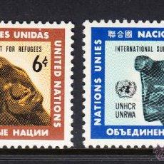 Sellos: NACIONES UNIDAS NEW YORK 209/10** - AÑO 1971 - AYUDA INTERNACIONAL A LOS REFUGIADO. Lote 173100193