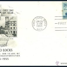Sellos: FIRST DAY OF ISSUE.......CENTENNIAL ..... SOO LOCKS.......1955. Lote 55016300