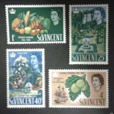 Sellos: SELLOS DE SAN VICENTE. YVERT 201/4. SERIE COMPLETA NUEVA SIN CHARNELA.. Lote 55063660