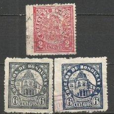 Sellos: HONDURAS 1927-1929 YVERT NUM. 196 Y 198/199 USADOS. Lote 55132061