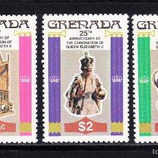 Sellos: GRANADA 811/13** - AÑO 1978 - 25º ANIVERSARIO DE LA CORONACIÓN DE ISABEL II. Lote 55234717