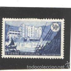 Sellos: ST. PIERRE ET MIQUELON 1955 - YVERT NRO. 348 - CHARNELA - ADELGAZAMIENTO. Lote 121925002