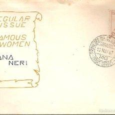Sellos: BRASIL & FDC HOMENAJE A LAS MUJERES BRASILEÑAS, ANA NERI, MINAS GERAIS 1967 (819). Lote 55360261