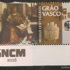Sellos: PORTUGAL ** & MUSEOS CENTENARIOS, GRÃO VASCO 2016 (PUB). Lote 55799802