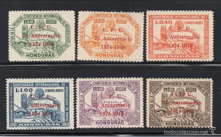 HONDURAS AEREO 181/86* - AÑO 1951 - 75º ANIVERSARIO DE LA UNION POSTAL UNIVERSAL - ARQUEOLOGIA (Sellos - Extranjero - América - Otros paises)