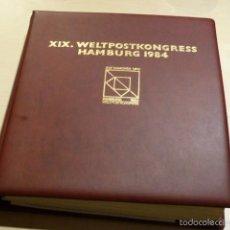 Sellos: ALBUM DE SELLOS CONMEMORATIVOS DEL CONGRESO HAMBURGO 1984 UPU - UNION POSTAL UNIVERSAL- FDC . Lote 56166610