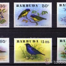 Sellos: BARBUDA 1976 IVERT 251/6 *** FAUNA - AVES. Lote 56257724