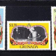 Sellos: GRANADA 1236/38** - AÑO 1985 - 85º ANIVERSARIO DE LA REINA MADRE. Lote 56951485