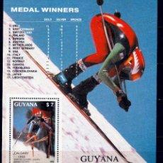 Sellos: GUAYANA 1988. HB. JJOO DE INVIERNO '88 CALGARY **.MNH. Lote 57205173
