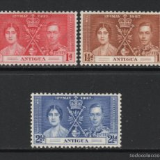 Sellos - ANTIGUA 78/80* - AÑO 1937 - CORONACIÓN DEL REY JORGE VI - 57225381