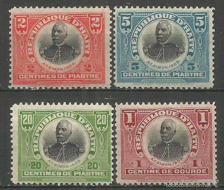 HAITI YVERT NUM. 129/132 * SERIE COMPLETA CON FIJASELLOS (Sellos - Extranjero - América - Otros paises)