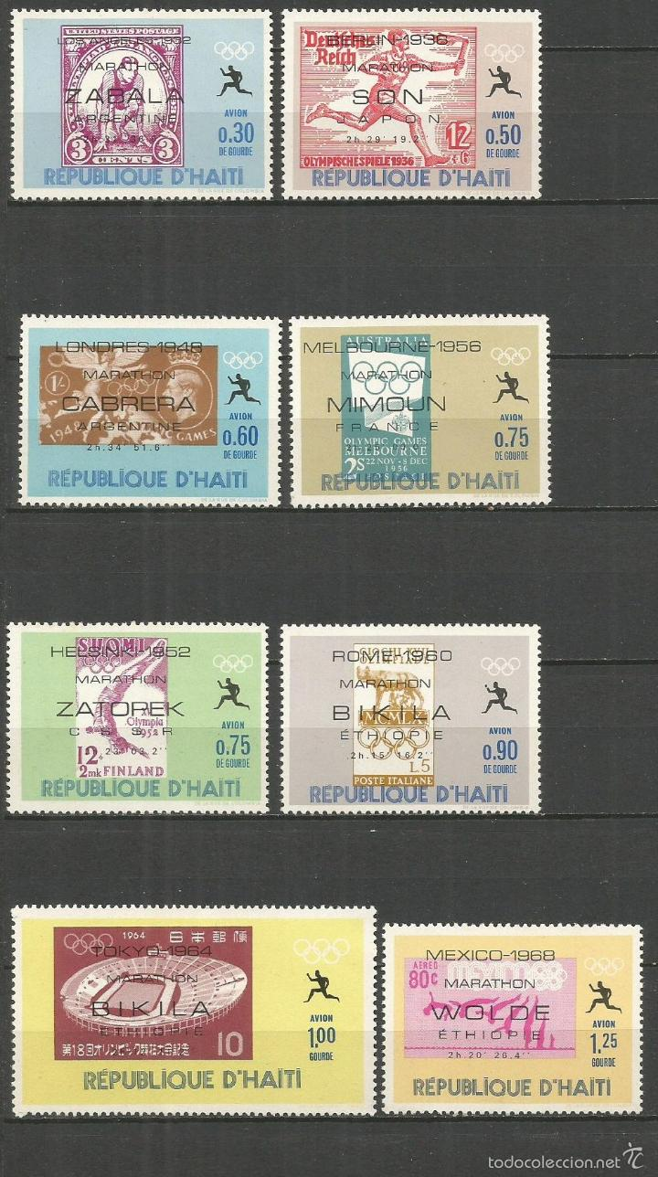 HAITI CORREO AEREO YVERT NUM. 407/414 ** SERIE COMPLETA SIN FIJASELLOS (Sellos - Extranjero - América - Otros paises)