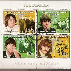 Sellos: REP. CONGO & CELEBRIDADES, THE BEATLES 2006 (4) . Lote 58102068
