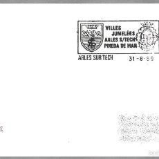 Sellos: HERMANAMIENTO ARLES SUR TECH (FRANCIA) CON PINEDA DE MAR (BARCELONA). ARLES SUR TECH 1989. Lote 58153364