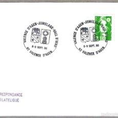 Sellos: HERMANAMIENTO VALENCE D'AGEN CON VALL D'UIXO (CASTELLON). VALENCE D'AGEN, FRANCIA, 1990. Lote 58327178