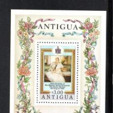 Sellos: ANTIGUA HB 50** - AÑO 1980 - 80º ANIVERSARIO DE LA REINA MADRE. Lote 58388368