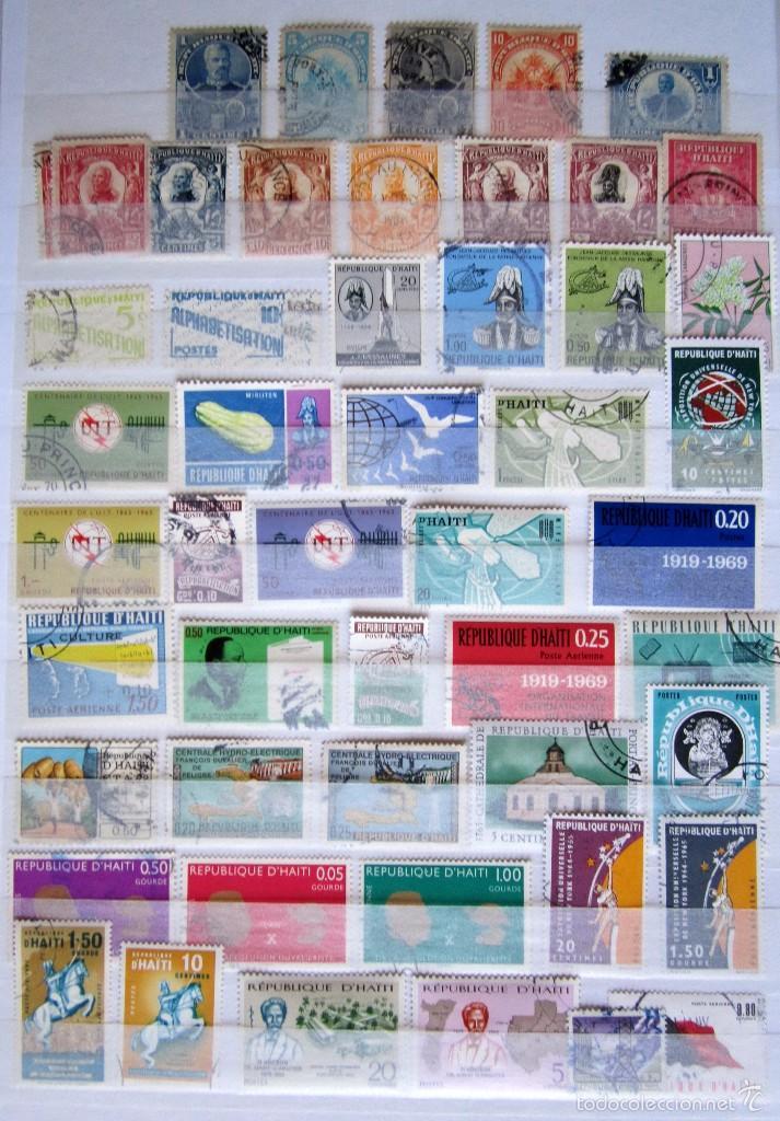 89 SELLOS USADOS HAITI (Sellos - Extranjero - América - Otros paises)