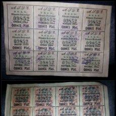 Sellos: SELLO - RAROS 24 SELLOS S.N.A.D NUMERO NACIONAL 1963 1964 A.J.D.E CORREOS ? LOTERIA ? FISCAL ?. Lote 58532018