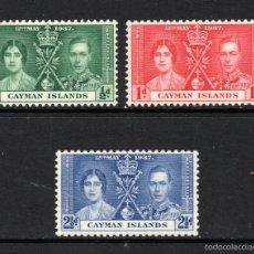 Stamps - CAYMAN 101/03* - AÑO 1937 - CONMEMORACIÓN DE LA CORONACIÓN DE JORGE VI - 59111035