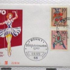 Sellos: ALEMANIA 1971 SOBRE PRIMER DIA CIRCULACION CUENTOS INFANTILES- MARIONETAS - FDC . Lote 59841956
