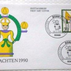 Sellos: ALEMANIA 1990 SOBRE PRIMER DIA DE CIRCULACION TEMÁTICA NAVIDAD- CHRISTMAS- FDC . Lote 59842604