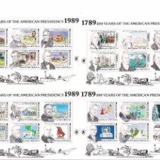 Sellos: DOMINICA Y TURCAS Y CAICOS. 200 AÑOS DE PRESIDENCIA AMERICANA. MASONERÍA. Lote 60163635