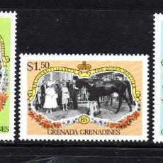 Sellos: GRANADA GRANADINAS 601/03** - AÑO 1985 - 85º ANIVERSARIO DE LA REINA MADRE. Lote 60214127