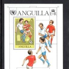 Sellos: ANGUILLA HB 39** - AÑO 1981 - FÚTBOL - 35º ANIVERSARIO DE LA UNICEF. Lote 60688451