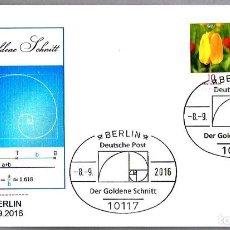 Sellos: MATASELLOS MATEMATICAS - EL NUMERO AUREO - PHI. BERLIN, ALEMANIA, 2016. Lote 61424847