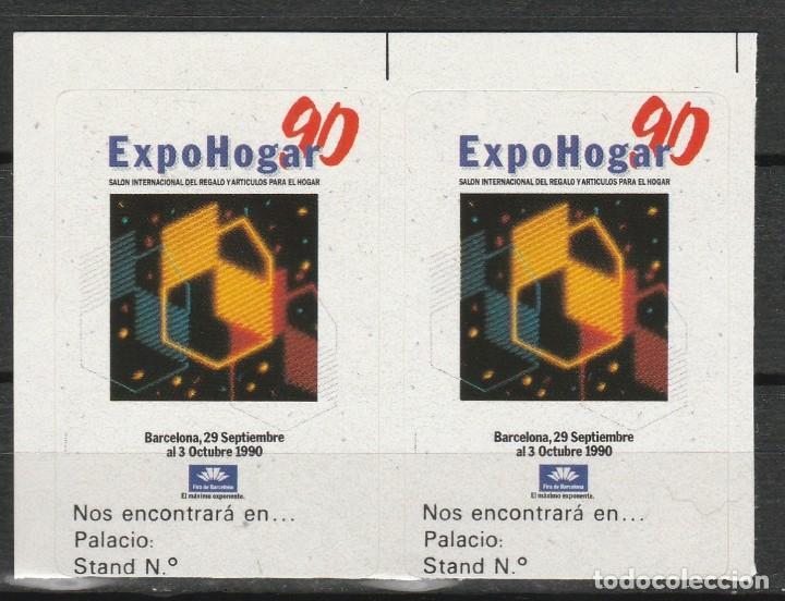 BARCELONA 1990. EXPO HOGAR 90'. PAREJA VIÑETAS **. MNH (Sellos - Temáticas - Varias)