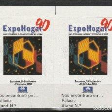 Sellos: BARCELONA 1990. EXPO HOGAR 90'. PAREJA VIÑETAS **. MNH. Lote 61974880