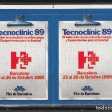 Sellos: BARCELONA 1989.TECNOCLINIC, '89. PAREJA VIÑETAS **. MNH. Lote 61976180