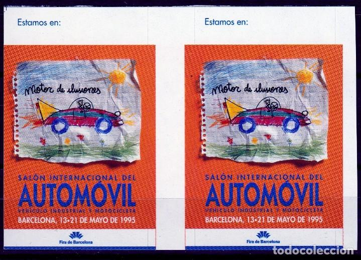 BARCELONA 1995. SALON INTERNACIONAL DEL AUTOMOVIL.PAREJA VIÑETAS **. MNH (Sellos - Temáticas - Varias)
