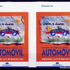 Sellos: BARCELONA 1995. SALON INTERNACIONAL DEL AUTOMOVIL.PAREJA VIÑETAS **. MNH. Lote 61980152