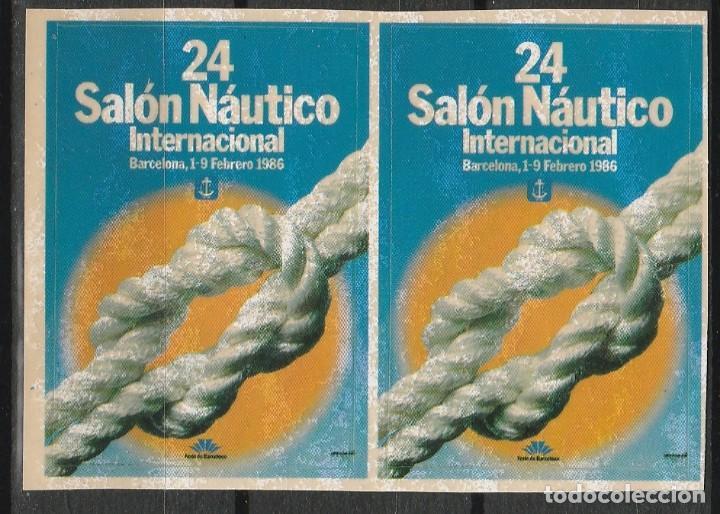 BARCELONA 1986. 24º SALON NAUTICO INTERNACIONAL.PAREJA VIÑETAS **. MNH (Sellos - Temáticas - Varias)