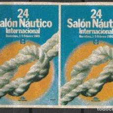 Sellos: BARCELONA 1986. 24º SALON NAUTICO INTERNACIONAL.PAREJA VIÑETAS **. MNH. Lote 61980296