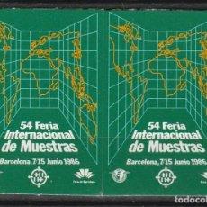 Sellos: BARCELONA 1986. 54ª FERIA INTERNACIONAL DE MUESTRAS.PAREJA VIÑETAS **. MNH. Lote 61980384