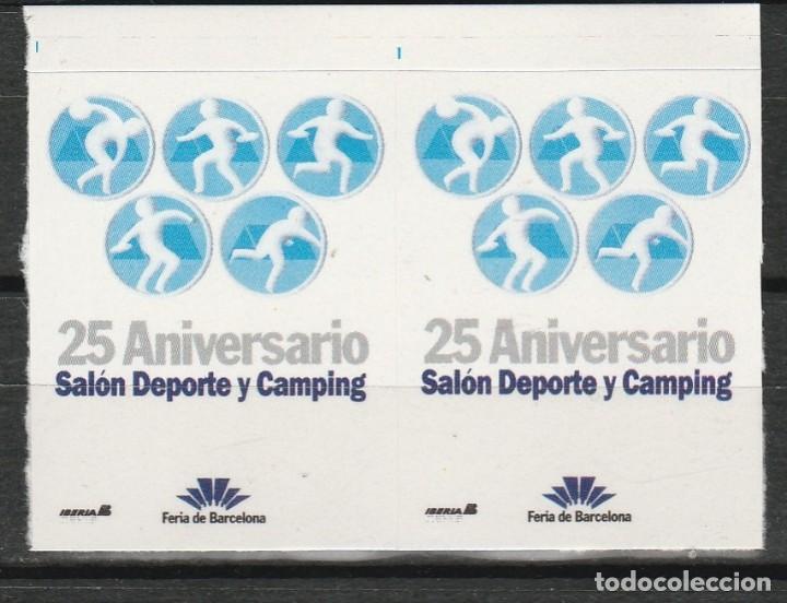 BARCELONA . 25º ANIVERSARIO DE LA FERIA DEL SALON DEL DEPORTE Y EL CAMPING.PAREJA VIÑETAS **. MNH (Sellos - Temáticas - Varias)