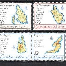 Sellos: GRANADINAS DE SAN VICENTE 204/09** - AÑO 1981 - MAPAS ANTIGUOS DE LAS ISLAS. Lote 62317252
