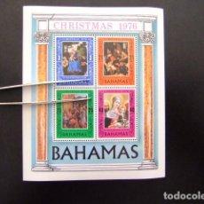 Sellos: BAHAMAS 1976 NOEL NAVIDAD CHRISTMAS YVERT BLOCK Nº 18 ** MNH . Lote 63701623
