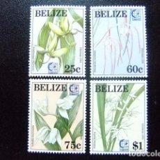 Sellos: BELIZE BELICE 1994 ORCHIDÉES YVERT & TELLIER Nº 1018 / 1021 ** MNH. Lote 63993727