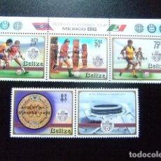 Sellos: BELIZE BELICE 1986 GANADORES DE FOOTBALL YVERT & TELLIER Nº 811 /814 ** MNH . Lote 63993851