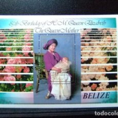 Sellos: BELIZE YEAR 1985 ELIZABETH SOBRE CARGA COMMONWEALTH BLOCK 60 - 61 MNH. Lote 63995183