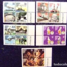 Sellos: BARBUDA 1977 EVENEMENTS AVIONES ESPACIO PINTURA YVERT Nº 345 / 364 ** MNH. Lote 67520221