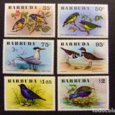 Sellos: BARBUDA 1976 FAUNA PAJAROS BIRDS OISEAUX YVERT N º 251 / 256 ** MNH . Lote 67522313